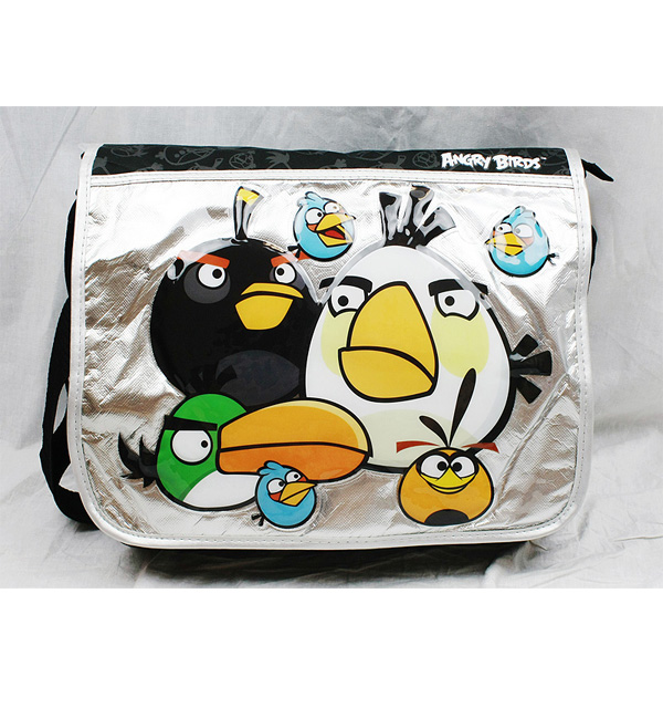 Messenger Bag - Angry Birds - Big White Bird New School Book Bag an10893