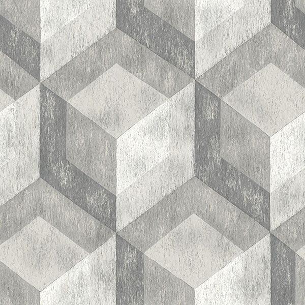 NuWallpaper Bauhaus Weathered Wood Peel & Stick Wallpaper