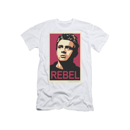 James Dean Icon Movie Actor Rebel Campaign Adult T-Shirt Tee (James Dean Brille)