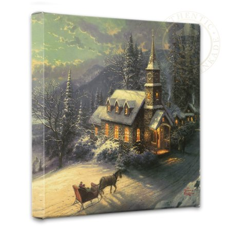 Thomas Kinkade Sunday Evening Sleigh Ride - 14