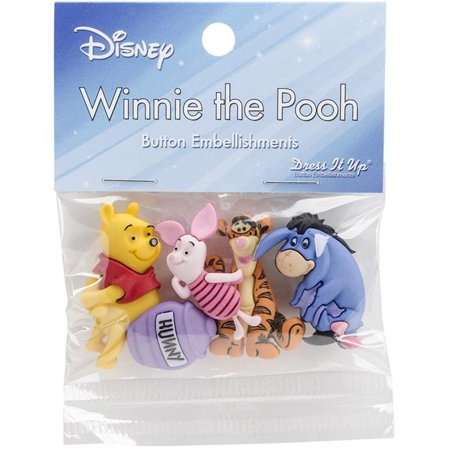 Dress It Up Disney Winnie The Pooh Embellishments, 4-Count