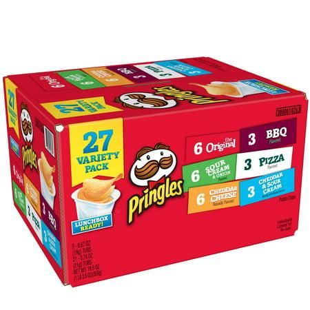 Pringles Snack Stacks Potato Crisps Chips, Flavored Variety Pack 19.5 Oz 27 Ct