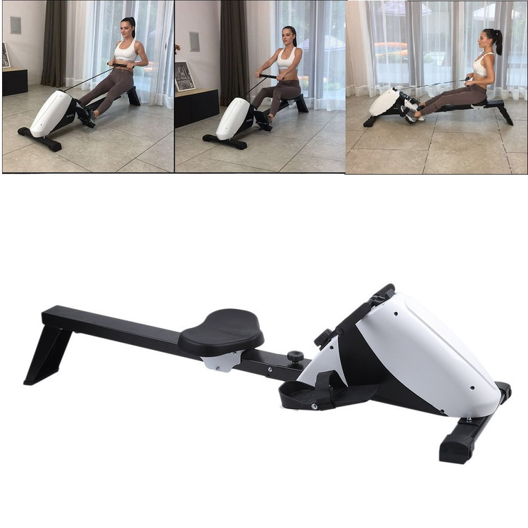 LCD Monitor Rowing Machine Rower Exercise Machine with Sl...