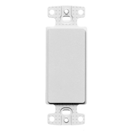 Hubbell-Wiring NS620W High-Impact Nylon Screw/Rear Keystone Mount 1-Gang Blank Decorator Outlet Frame White netSELECT