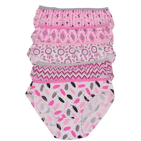 Cute Teen Girl Com (1000% Cute Girls Pink Feather Printed Cotton 5 Pc Underwear Set)