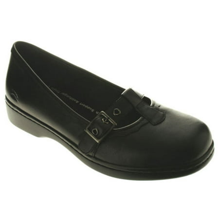 Women's Spring Step PARIS Casual Flat Shoes BLACK 6.5 M