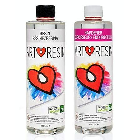 ArtResin - Epoxy Resin - Clear - No Respirator Needed - 16 oz (474 ml) Black Epoxy Resin Top