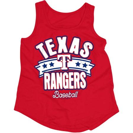 MLB Texas Rangers Girls Short Sleeve Team Color Graphic Tee
