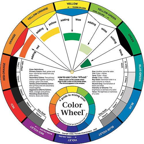 Color Wheel Large Color Mixing Guide Walmart Com