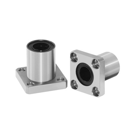 LMK8LUU Square Flange Bushing Router Shaft Linear Bearing Size:8*15*24mm