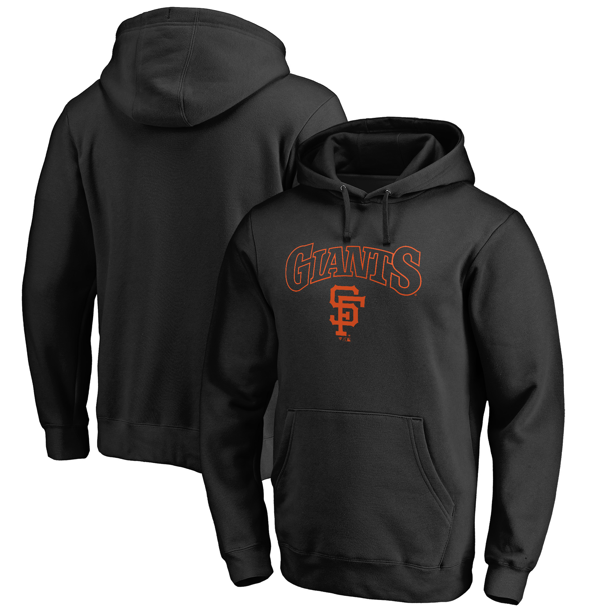 San Francisco Giants Fanatics Branded Vintage Cooperstown Collection Wahconah Pullover Hoodie - Black