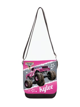 Personalized Monster Jam Polyester Madusa Purse, Pink
