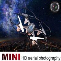 matoen Mini RC Quadcopter 2.4GHz 4CH 6-Axis Gyro 3D UFO Drone With 2.0MP HD Camera BK
