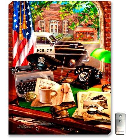 The Glow Store Inc (Glow Decor Hometown Hero Law Enforcement Wall Art)
