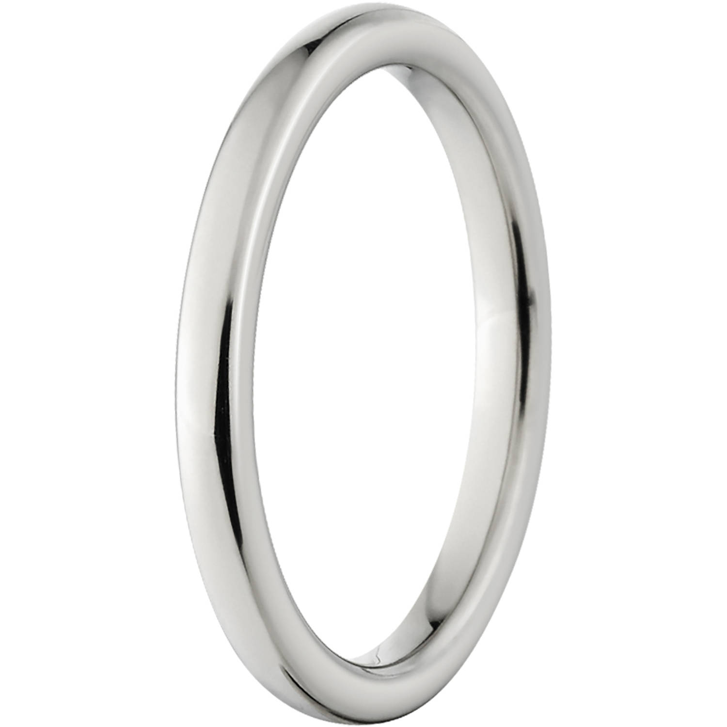 polished 3mm titanium wedding band with fort fit design