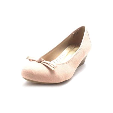 Karen Scott Womens Pippa Fabric Closed Toe Wedge Pumps