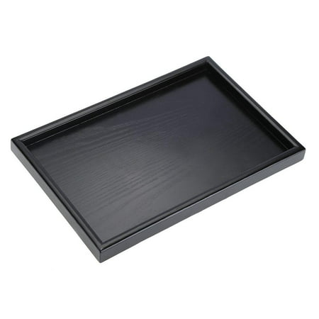 HURRISE Rectangle Shape Solid Wood Tea Coffee Snack Food Meals Serving Tray Plate Restaurant Trays - image 7 de 8