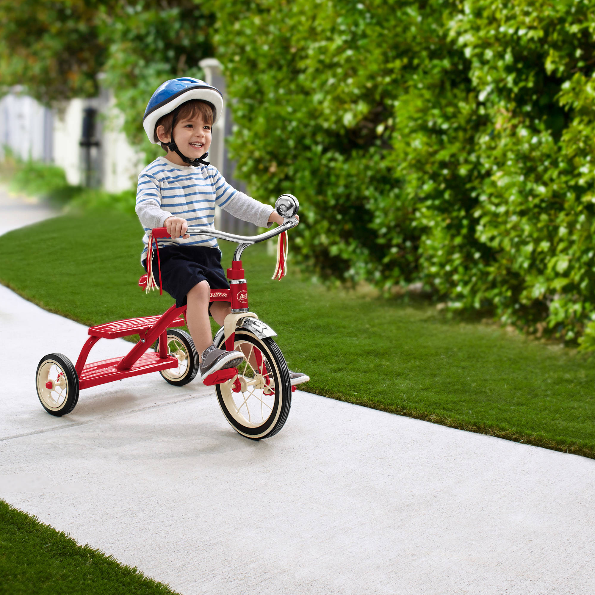 radio flyer classic red dual deck tricycle 042385956503 ebay. Black Bedroom Furniture Sets. Home Design Ideas