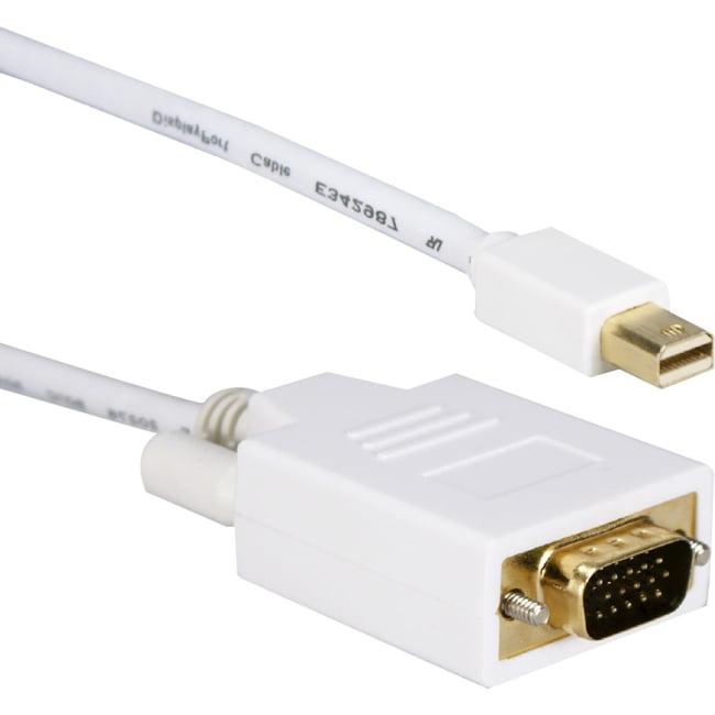 QVS MDPVGA-06 miniDisplayPort to VGA Video Cable with Latches, 6'
