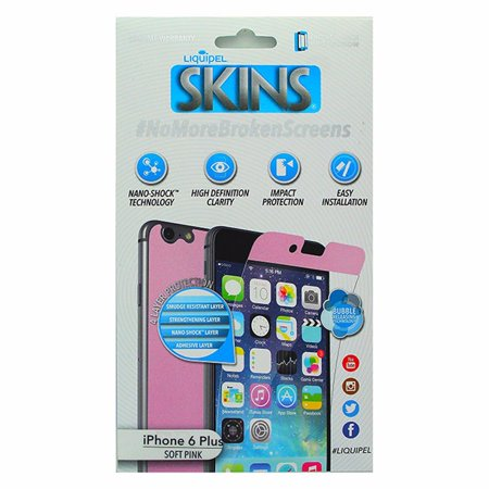 Liquipel Skins Soft Pink Front & Back Screen Protector for iPhone 6 Plus 6S