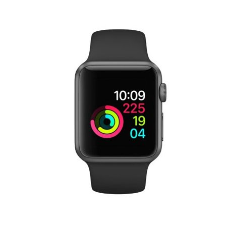 Refurbished Apple Watch Gen 2 Series 1 38mm Space Gray Aluminum - Black Sport Band MP022LL/A