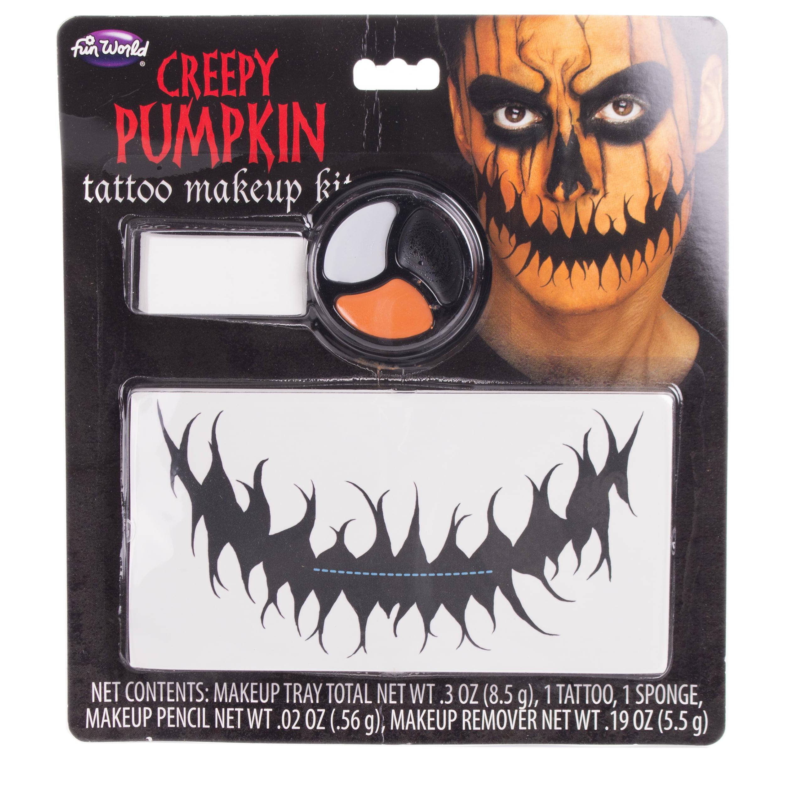 Fun World Speak No Evil Temporary Tattoo 5pc Makeup Kit, .3 oz, Gray Black Red