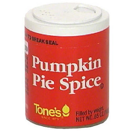 Tone's Pumpkin Pie Spice, 0.65 oz (Pack of 6)