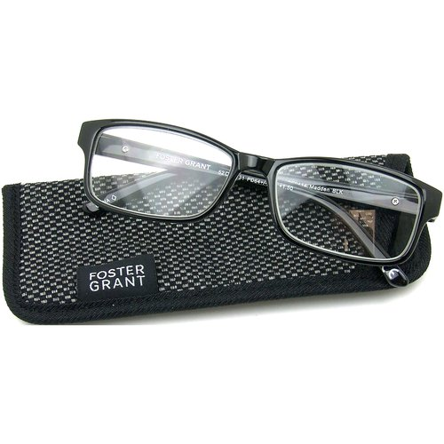 Foster Grant Madden Men's Rx-able Eyeglass Frames, O2 Black