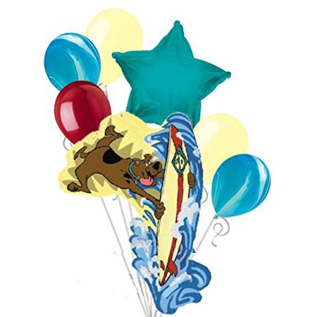 7pc Scooby Doo Surfing Shape Balloon Bouquet Party Decoration Happy Birthday Dog - Happy Halloween Scooby Doo Part 2