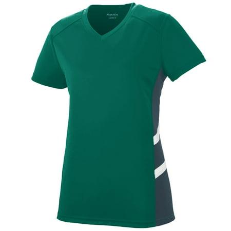 Augusta Sportswear Women's Oblique Jersey L Dark Green/Slate/White - image 1 of 1