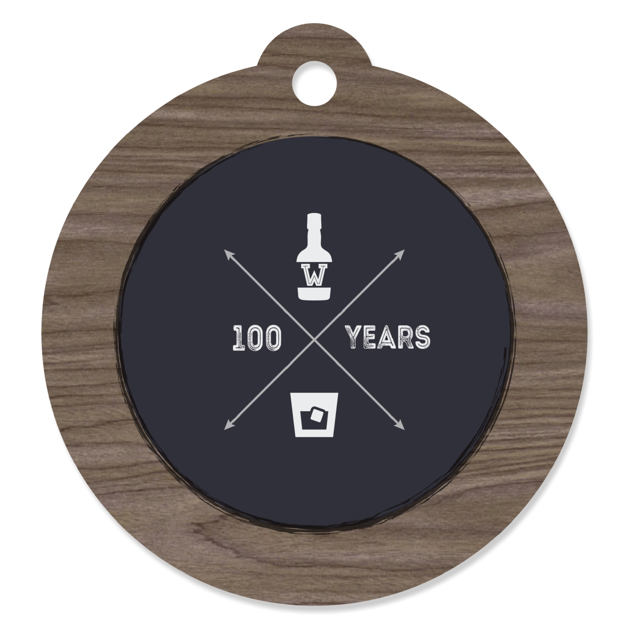 100th Milestone Birthday - Die-Cut Party Favor Tags (Set of 20)