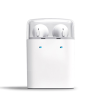 Universal Wireless Bluetooth 4.2 Earphone Stereo Sound Binaural Headset with Charging Box and Microphone White