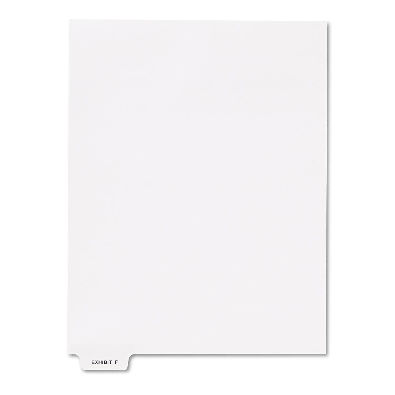 "80000 Series Legal Index Dividers, Bottom Tab, Printed ""Exhibit F\ by Kleer-Fax, Inc"