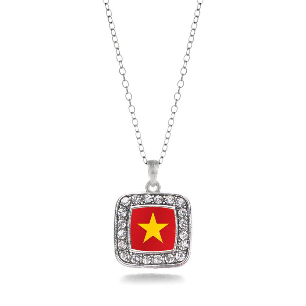 Vietnam Flag Classic Charm Necklace