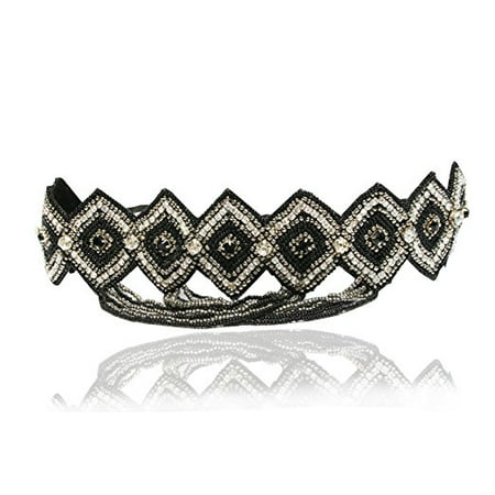 Great Gatsby Rhinestone Headband Art Deco 1920's and Look Sheet on All the Different Ways to Wear Including the Inspired Great Gatsby 20's Looks - Gatsby Themed Prom Hair