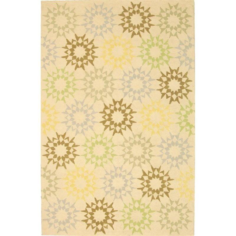 """Safavieh Martha Stewart 3'9"""" X 5'9"""" Handmade Cotton Pile Rug in Creme - image 7 de 10"""