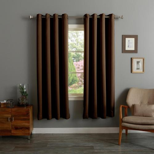 Aurora Home Grommet Top Thermal Insulated 72-inch Blackout Curtain Panel Pair Purple