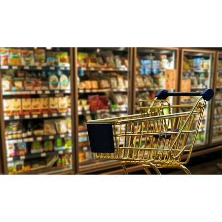 Canvas Print Transport Shopping Cart Shopping Retail Business Stretched Canvas 10 x 14