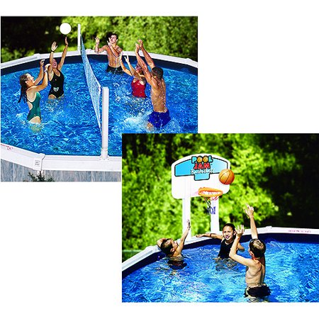 Pool Jam Volleyball Basketball Combo For Above Ground Pools