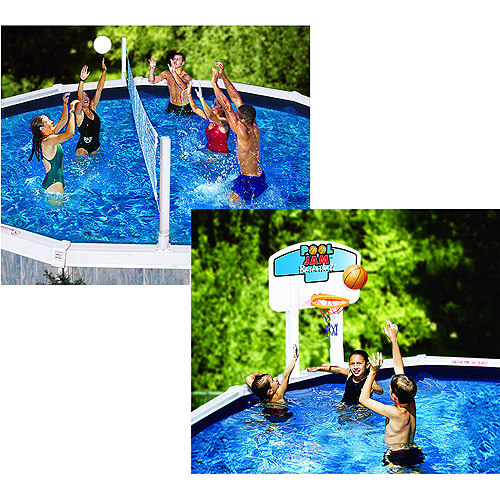 Pool Jam Volleyball / Basketball Combo For Above-Ground Pools