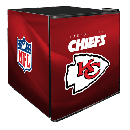 NFL Solid Door Refrigerated Beverage Center 1.8 cu ft -Kansas City Chiefs by