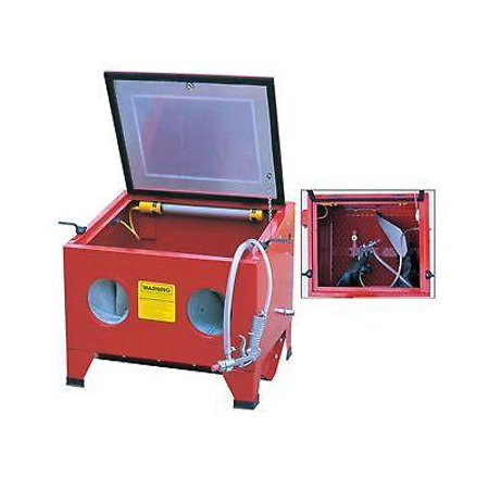 Air Power Bench Sand Blast Sandblasting Cabinet Tool Sandblaster Case