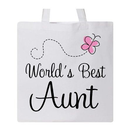World's Best Aunt Tote Bag White One Size