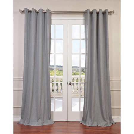 Half Price Drapes Solid Semi-Sheer Rod Pocket Single Curtain Panel