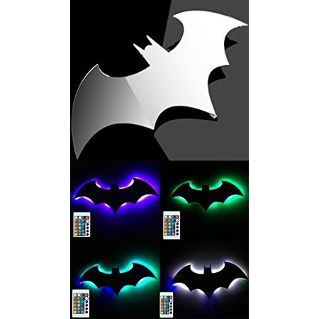 Bat Led Wall Light Colorful Mirror Remote Control Projection Night Suitable For Bedroom Ktv Corridor Background Etc