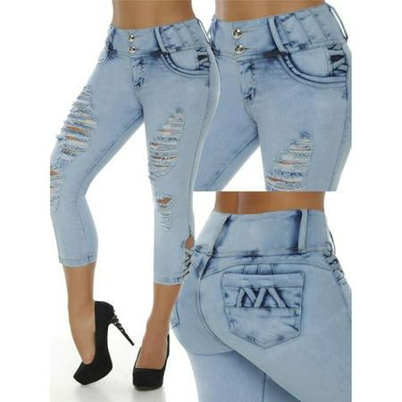 Slim Fit Women Skinny Jeans Denim Pants Capris