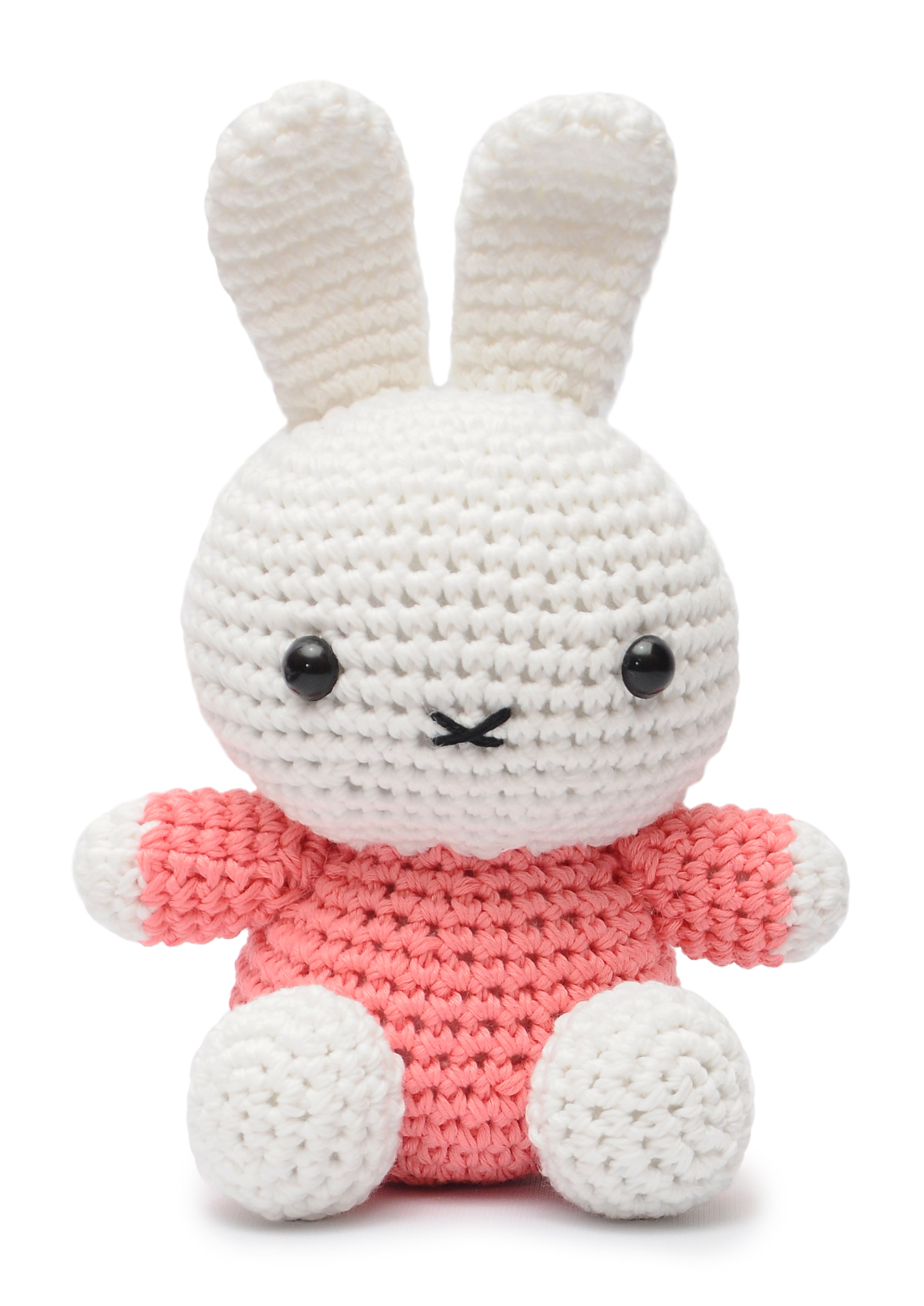 Pink Miffy Bunny Handmade Amigurumi Stuffed Toy Knit Crochet Doll ...