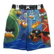 Little Boys Navy Blue Character Printed Swim Wear Shorts 5