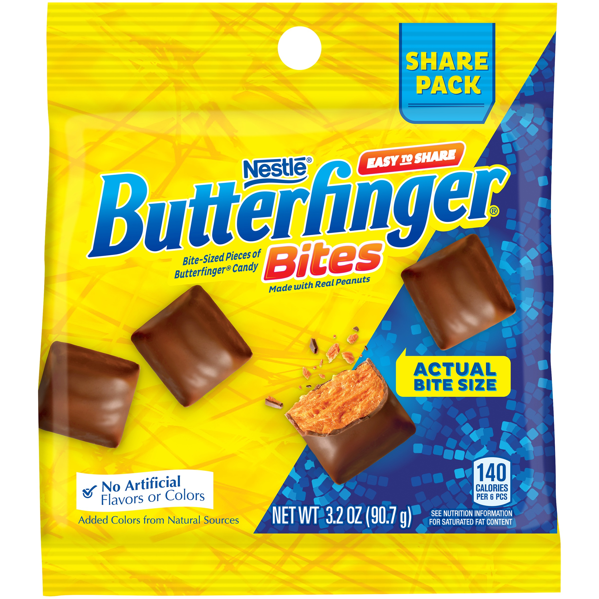 BUTTERFINGER BITES 3.2 oz. Bag