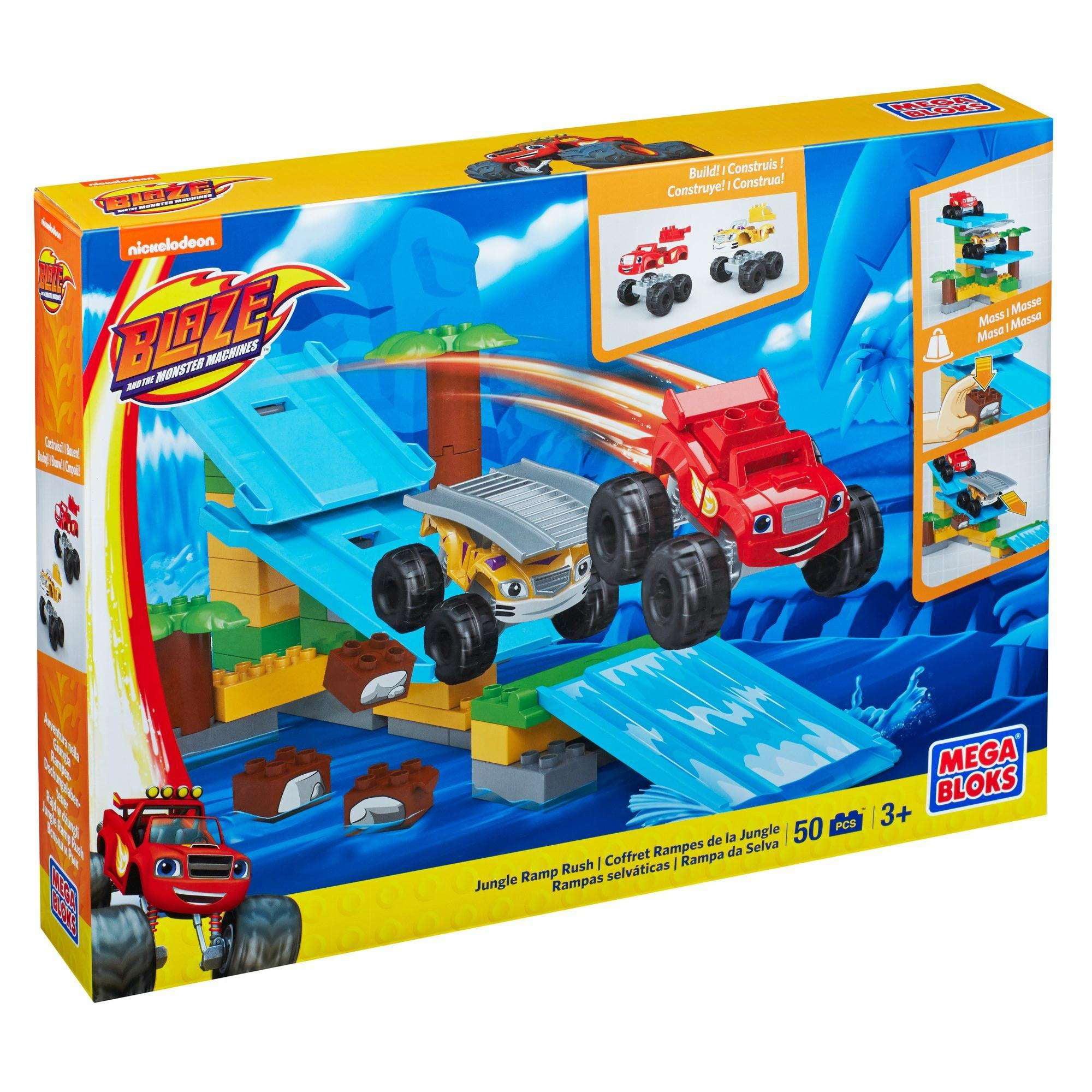 Mega Bloks Nickelodeon Blaze And The Monster Machines Jungle Ramp Rush Walmart Com Walmart Com